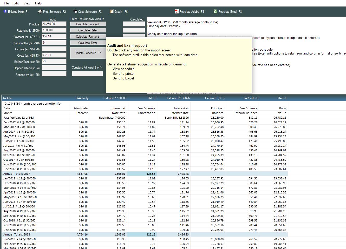 fasb 91 dealer fees amortization software